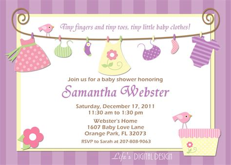 informal wedding invitation wording template baby free printable shower girl invitation free