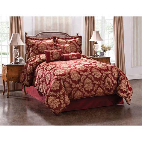 burgundy bedspreads shop monroe burgundy king polyester comforter at lowes com