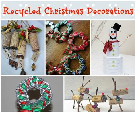 recycled christmas decorations ideas