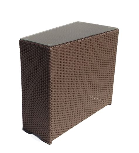 outdoor wicker wedge end table sonoma