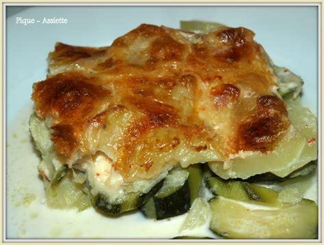 je sais cuisiner gratin façon dauphinois aux courgettes et mozzarella