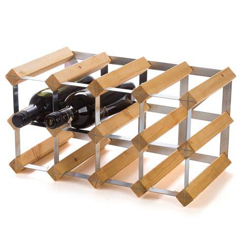 Traditional Wine Rack Co  Light Oak Wine Rack 12 Bottles