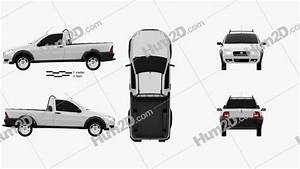 Fiat Strada Short Cab Working 2012 Clipart