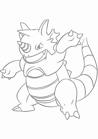 Pokemon Rhydon Coloring Generation Pages Type Rock
