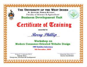 Training Workshop Template Certificate