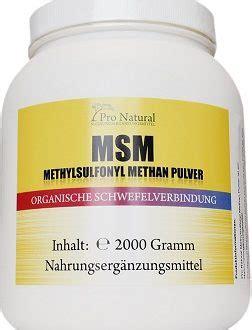 msm pulver methylsulfonylmethan von vita natura