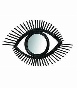 Miroir Rotin Noir : miroir mural rond dor gousset diam tre 55cm ~ Melissatoandfro.com Idées de Décoration