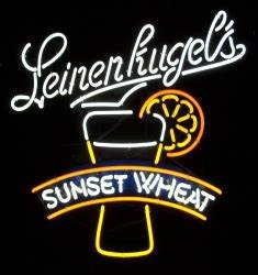 Leinenkugel s Sunset Wheat Neon Beer Bar Sign Light