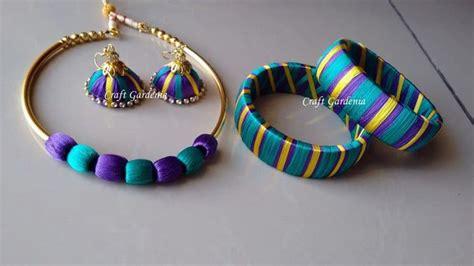 basic tutorial  silk thread bangle making simple craft