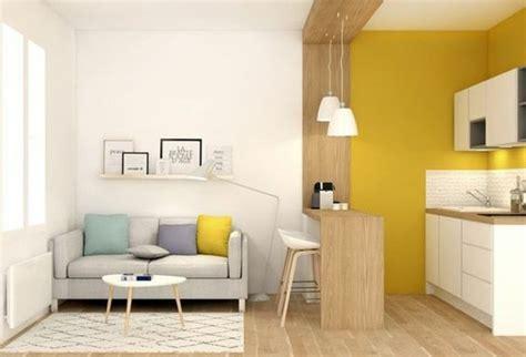 cuisine mur jaune la couleur jaune moutarde nouvelle tendance dans l