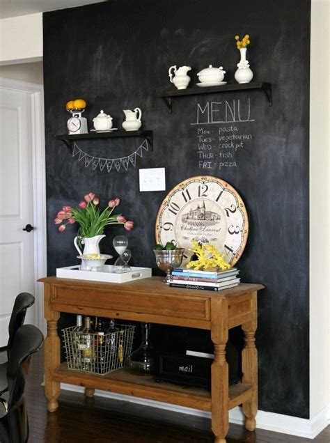chalkboard kitchen wall ideas   inspiration