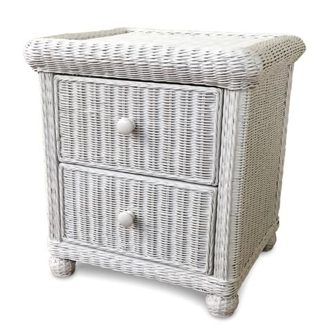 Wicker Nightstand White by Wicker 2 Drawer Nightstand Elana