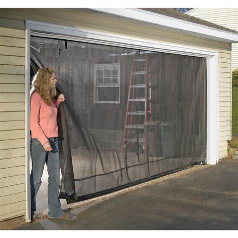 magnetic screen garage door curtain shelterlogic 174 16x8 garage door screen 184889 pest