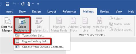 Office 365 Mail Merge by How To Perform A Mail Merge In Word Using An Excel
