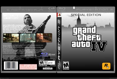 grand theft auto iv playstation  box art cover  hellstorm