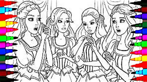 coloring pages barbie   friends coloring book
