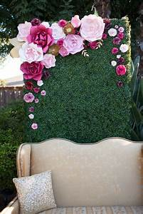 Paper Flower back drop by PaperFlora photo booth backdrop