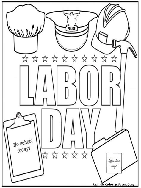 labor day coloring pages kidsuki