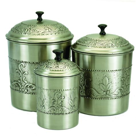 Kitchen Canisters Pewter by Pewter Canisters 5 189 Qt 4qt 3qt Home