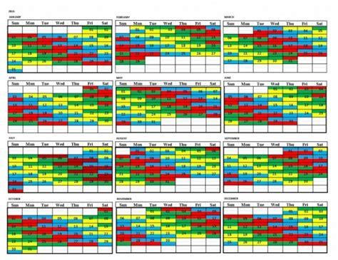 firefighter shift calendar printable calendar template