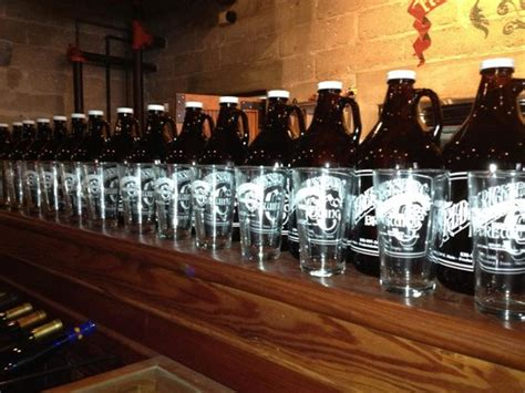 your choice of growlers at the fredericksburg brewing company picture of fredericksburg