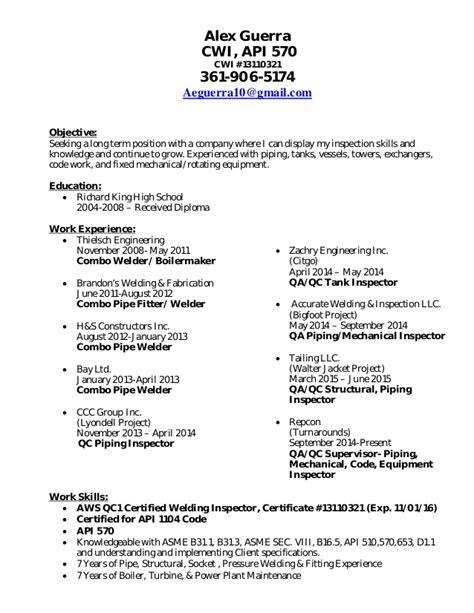 Alex Guerra CWI API 570 Resume