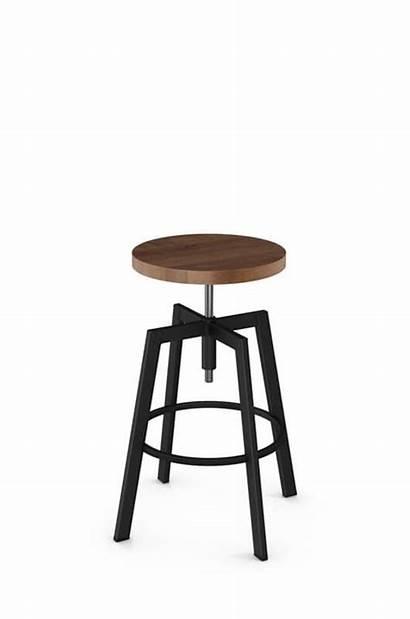 Stool Seat Backless Wood Screw Architect Adjustable