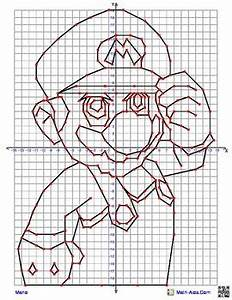 Mario Coordinate Graphing Picture4 quadrant graphing ...