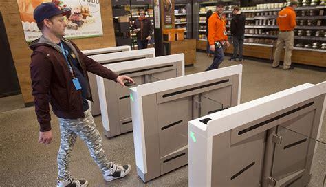 man enters  amazon  store