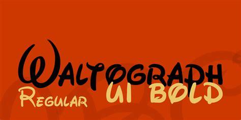 waltograph font family befontscom
