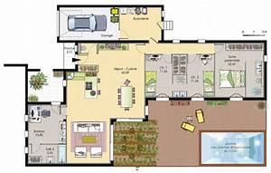 Plan Maison 6 Chambres : plan maison 6 chambres plain pied 11 immobilier pour tous ~ Voncanada.com Idées de Décoration