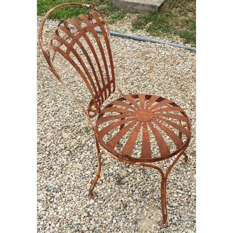 chaise en fer forgé de jardin chaise de jardin en fer forgé blanc moinat sa antiquités décoration
