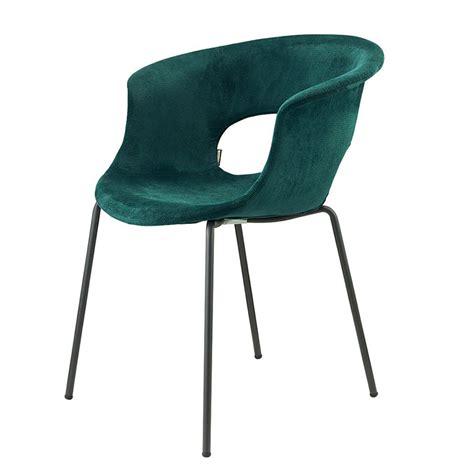 chaises b b miss b pop 2686 chaise en métal avec revêtement en tissu