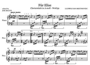 Full Fur Elise Piano Sheet Music