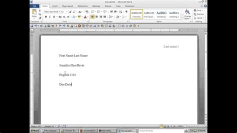 format  word document  meet mla requirements youtube