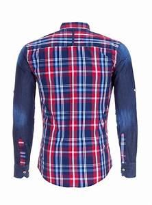 Chemise Homme A Carreau : chemise homme jeans a carreau rouge pas cher 8127 pour 38 90 ~ Melissatoandfro.com Idées de Décoration