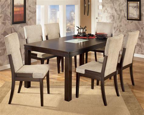 7 Piece Patio Dining Set by Elegant Dark Wood Dining Room Chairs Plushemisphere