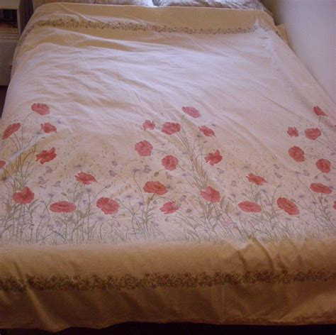 Vintage Dorma Country Diary Collection Poppies Duvet Cover