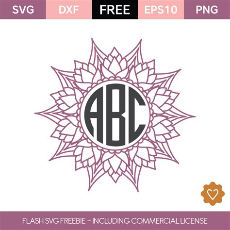 flash freebie  commercial license monogram frame vinyl crafts silhouette cameo projects