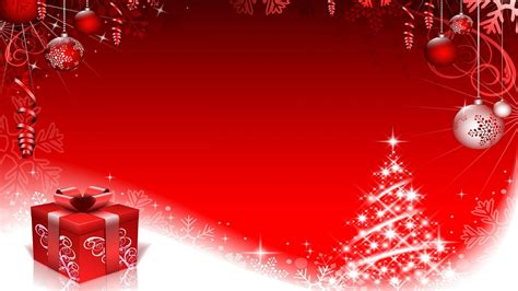 red christmas decorations  snowflakes background