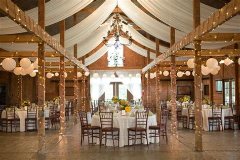 elegant rustic wedding reception  virginia sara brett