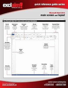 Quick Reference Guide Series Microsoft Word 2013 Main