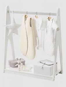 Portant Vetement Blanc : portant v tements avec tag re blanc vertbaudet enfant ~ Teatrodelosmanantiales.com Idées de Décoration