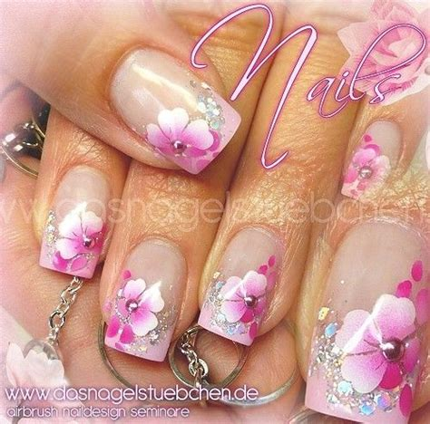 nageldesign rosa 17 best ideas about airbrush nails on lace nail design wedding nails design and
