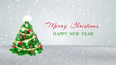 merry christmas happy  year  motion background