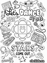 Colouring Dancing Dance Coloring Cbc Sheet Sing Activities Shoes Ballet Dancer Let Those Facts Microphones Imagination Rainbows Truly Flying Mixed sketch template