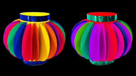 how to make christmas lanterns how to make fancy paper lantern ball christmas crafts doovi