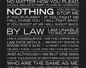 I am the police-thin blue line poster