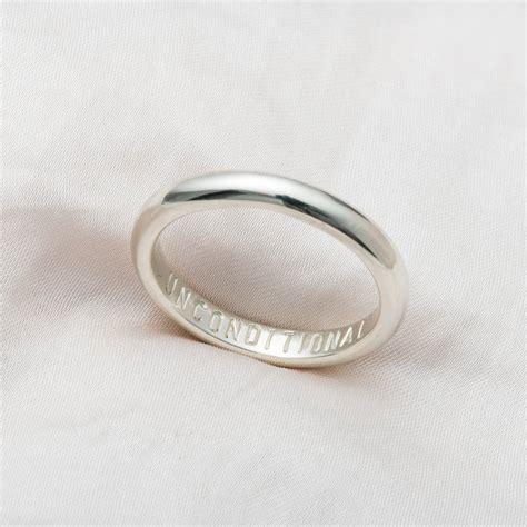 personalised 9ct gold script wedding ring by posh totty