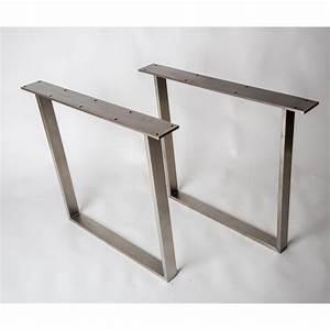Tischbeine Frame aus Edelstahl gebürstet für Haus und Garten